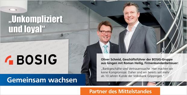 Unsere Firmenkunden: BOSIG-Gruppe, Gingen