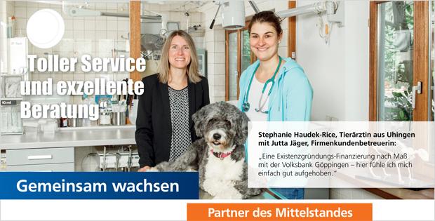 Unsere Firmenkunden: Tierärztin Stephanie Haudek-Rice, Uhingen
