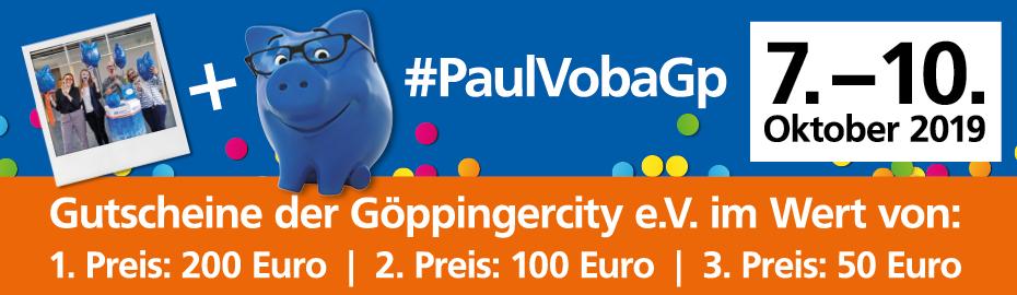 Party-Pic mit Paul und dem VR-GewinnSparen mit Fondssparplan