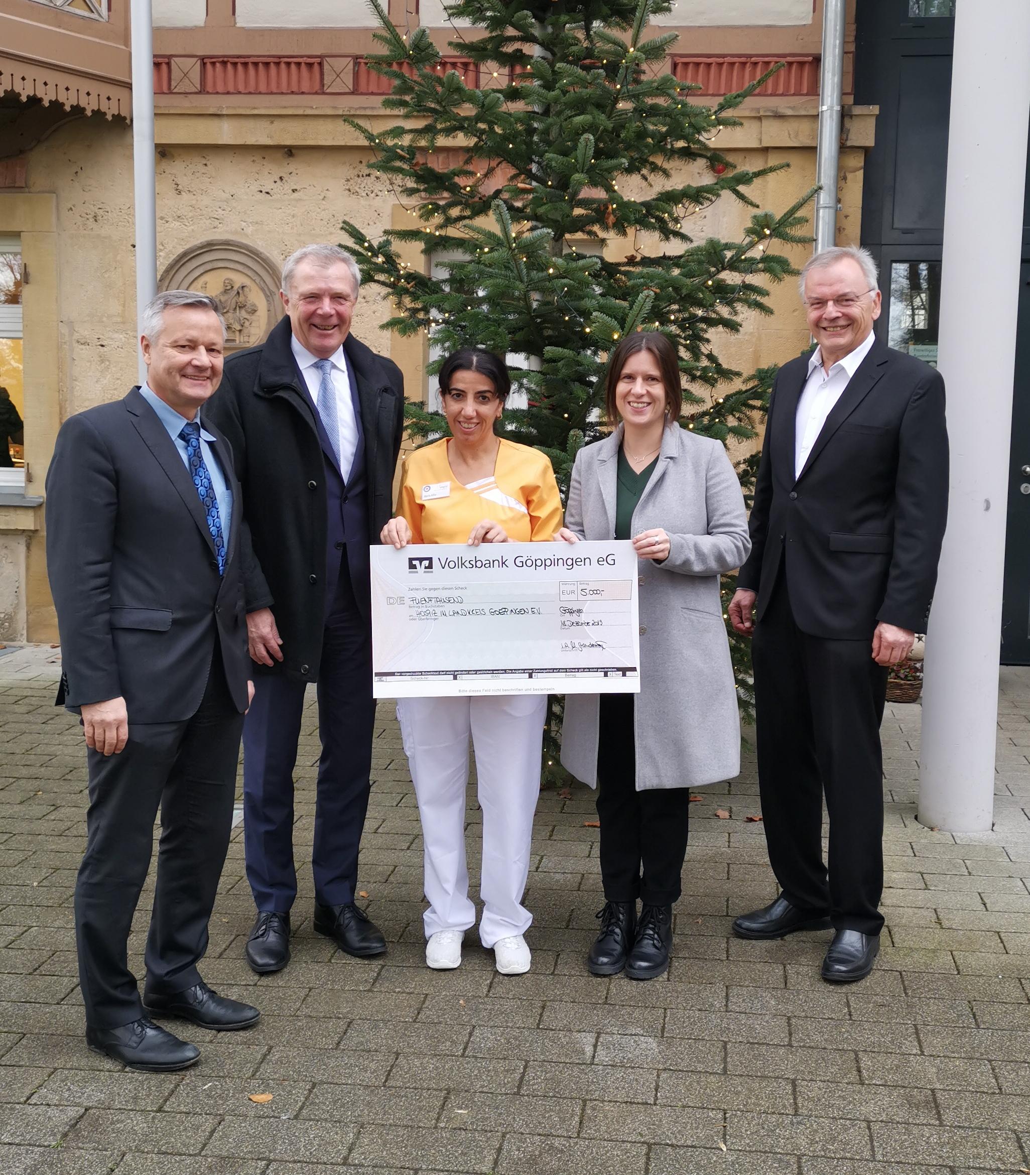 Das stationäre Hospiz in Faurndau erhielt eine Spende zu Weihnachten