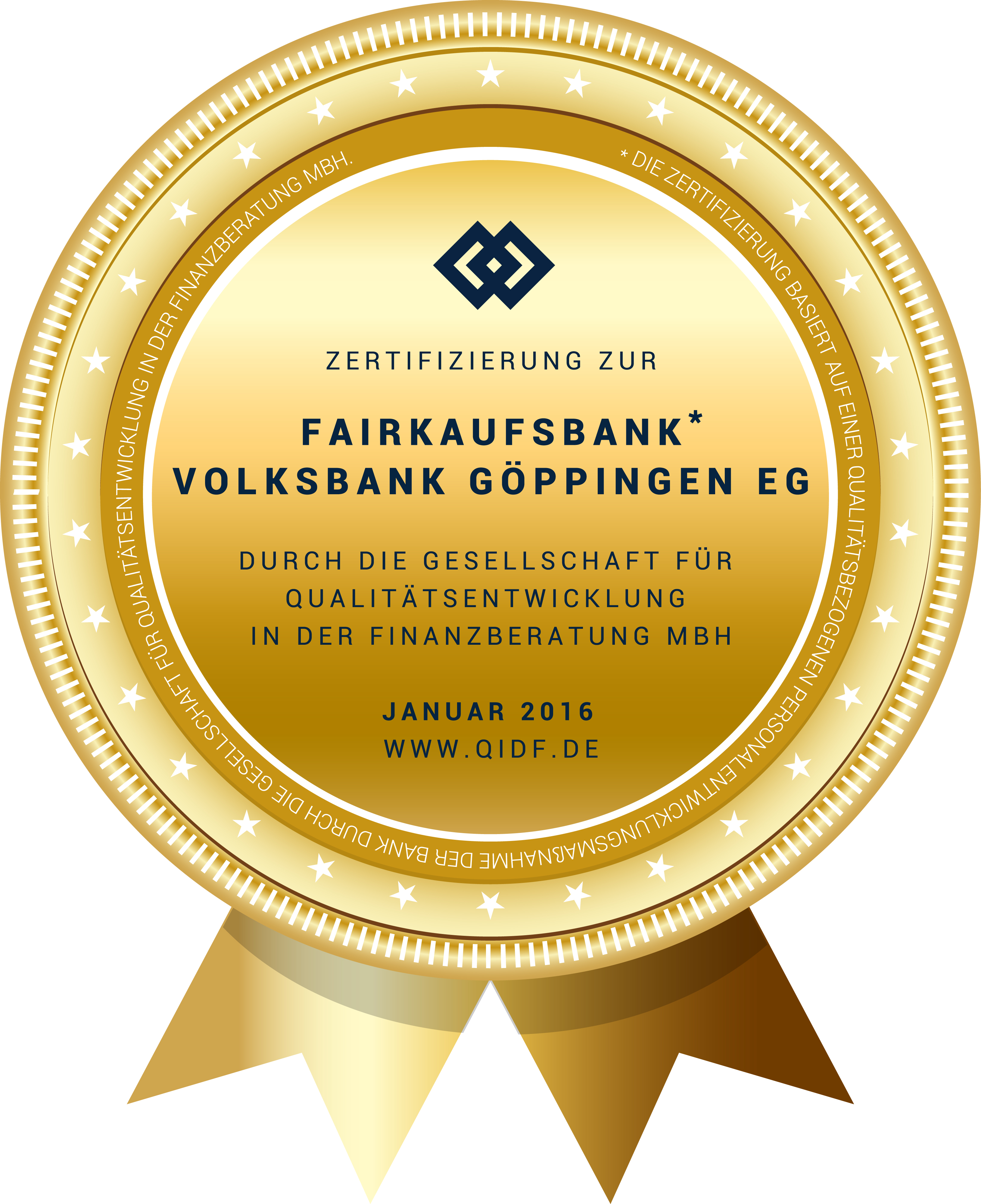 FAIRkaufsbank - Auszeichnung für Volksbank Göppingen